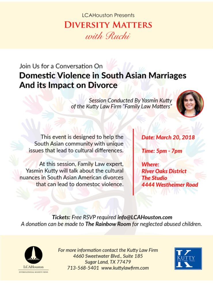 Invitation to event on Domestic Violence