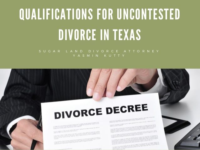 Chart about Uncontested Divorce